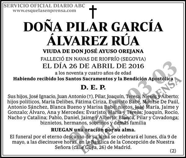Pilar García Álvarez Rúa